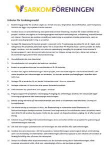 sarkomfonden ansökningskriterier